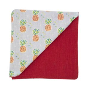 JAGGS_costume_sur_mesure_chemise_sur_mesure_Belgique_waterloo_bruxelles_pochette_costume_A_sweet_pineapple_ananas_orange_sur_fon