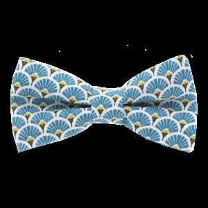 JAGGS-noeud-papillon-japonais-eventails-turquoise