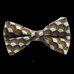 JAGGS-noeud-papillon-japonais-plumes-jaune-rouge