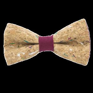 JAGGS-noeud-papillon-liege-multicolore-MUSCAT-bordeaux