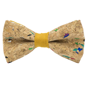 JAGGS-noeud-papillon-liege-multicolore-MUSCAT-jaune-moutarde