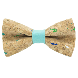JAGGS-noeud-papillon-liege-multicolore-MUSCAT-vert-piscine