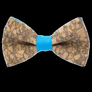JAGGS-noeud-papillon-liege-paillettes-doree-CHARDONNAY-turquoise
