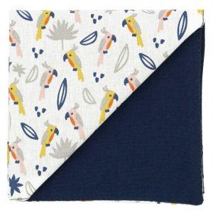 JAGGS-pochette-CRAZY-PAPAGAYO-blanc-dos-bleu-marine