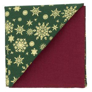 JAGGS-pochette-NOEL-CHRISTMAS-SNOW-vert-dos-rose-framboise