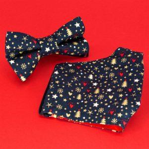 JAGGS-costumes-chemises-sur-mesure-pack-cadeau-masque-noeud-papillon-christmas-love-bleu-marine
