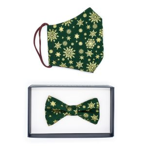 JAGGS-costumes-chemises-sur-mesure-pack-cadeau-masque-noeud-papillon-christmas-snow-vert