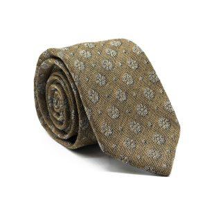 JAGGS-costumes-chemises-sur-mesure-cravate-7-plis-en-laine-William-beige-motifs-fleurs-blanches
