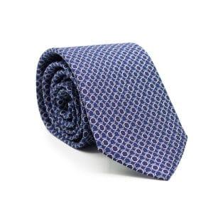AGGS-cravate-en-soie-ARCHIE-bleu-marine-anneaux-bleu-ciel-et-blancs