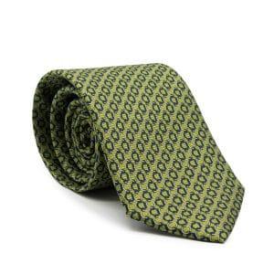 JAGGS-cravate-en-soie-ARCHIE-vert-pistache-anneaux-bleu-marine-et-blancs