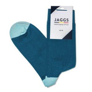 JAGGS-chaussettes-coton-homme-unies-bleu-canard