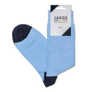 JAGGS-chaussettes-coton-homme-unies-bleu-ciel