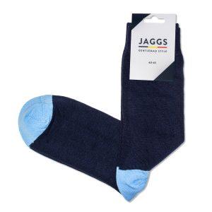 JAGGS-chaussettes-coton-homme-unies-bleu-marine
