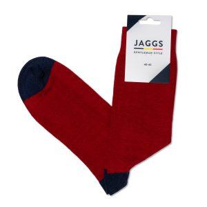 JAGGS-chaussettes-coton-homme-unies-bordeaux