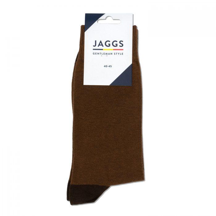 JAGGS-chaussettes-coton-homme-unies-chataigne