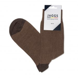 JAGGS-chaussettes-coton-homme-unies-cognac