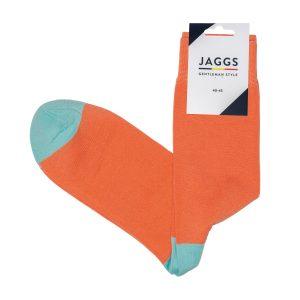JAGGS-chaussettes-coton-homme-unies-corail