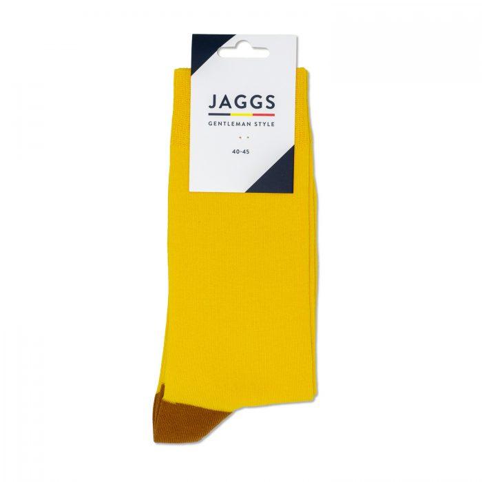 JAGGS-chaussettes-coton-homme-unies-jaune