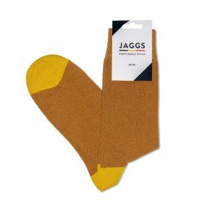 JAGGS-chaussettes-coton-homme-unies-jaune-moutarde