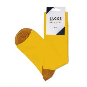 JAGGS-chaussettes-coton-homme-unies-jaunes