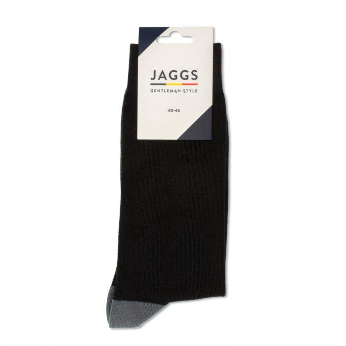 JAGGS-chaussettes-coton-homme-unies-noires