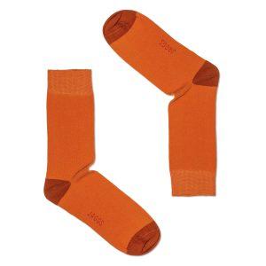 JAGGS-chaussettes-coton-homme-unies-orange