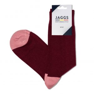 JAGGS-chaussettes-coton-homme-unies-rose-framboise