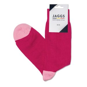 JAGGS-chaussettes-coton-homme-unies-rose-fuchsia