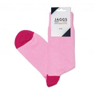 JAGGS-chaussettes-coton-homme-unies-roses