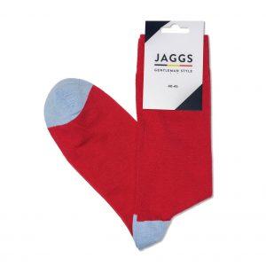 JAGGS-chaussettes-coton-homme-unies-rouges