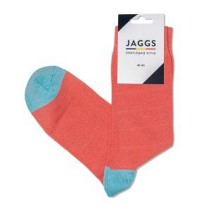 JAGGS-chaussettes-coton-homme-unies-saumon
