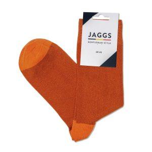 JAGGS-chaussettes-coton-homme-unies-terracotta