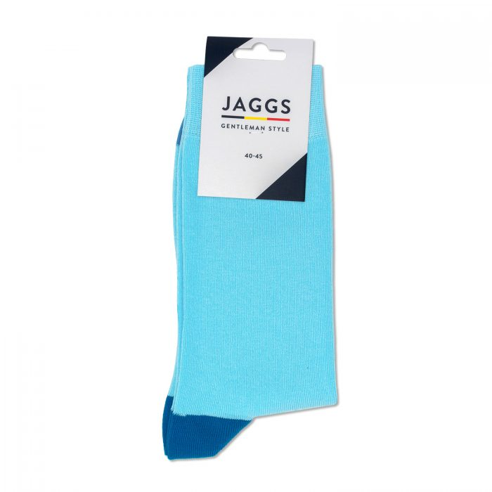 JAGGS-chaussettes-coton-homme-unies-turquoise