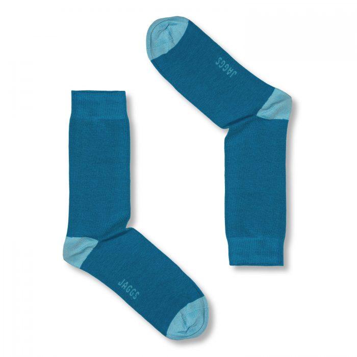 JAGGS-chaussettes-coton-homme-unies-turquoise-fonce