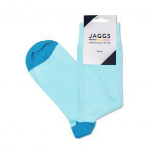 JAGGS-chaussettes-coton-homme-unies-turquoises