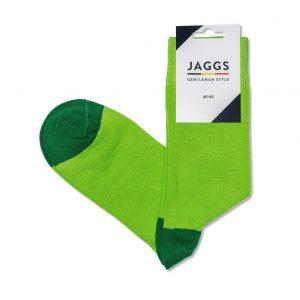 JAGGS-chaussettes-coton-homme-unies-vert-pomme