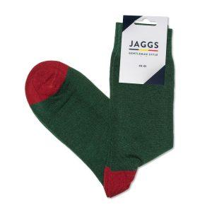 JAGGS-chaussettes-coton-homme-unies-vert-sap