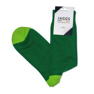 JAGGS-chaussettes-coton-homme-unies-vertes