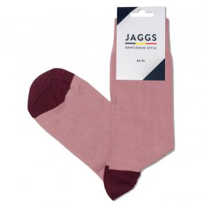 JAGGS-chaussettes-coton-homme-unies-vieux-rose