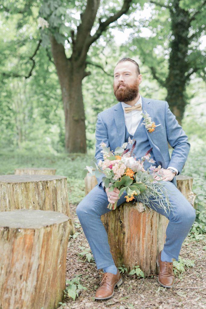 Chaussettes de couleur pour mariage