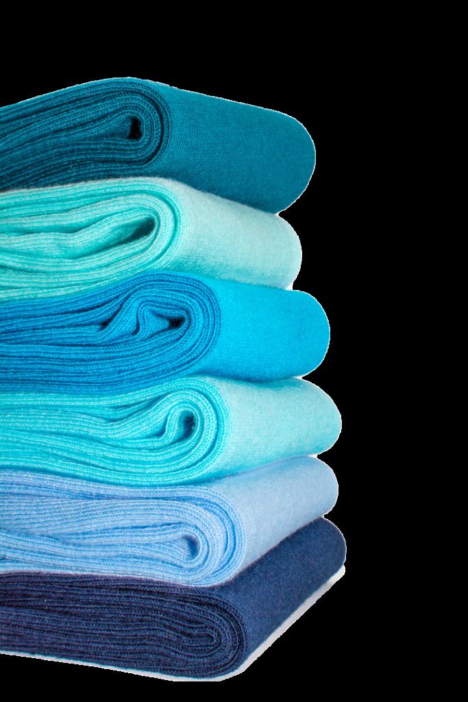 Chaussettes de costume de couleur bleue JAGGS