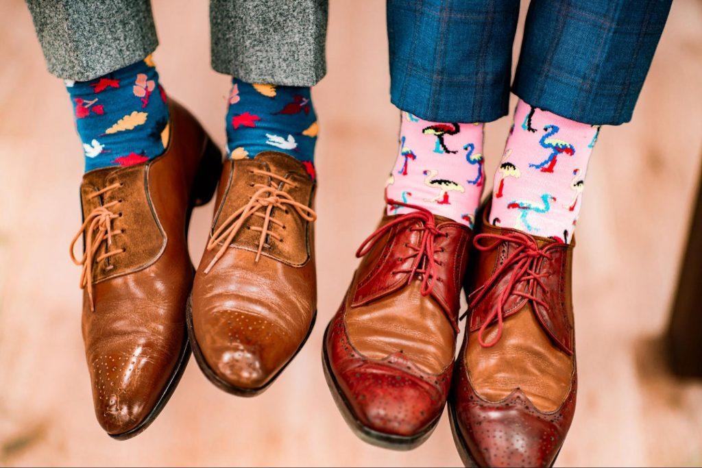 Chaussettes fantaisies avec costume