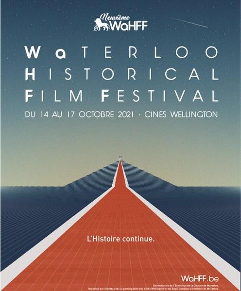 Affiche du WaHFF, festival du film historique de Waterloo