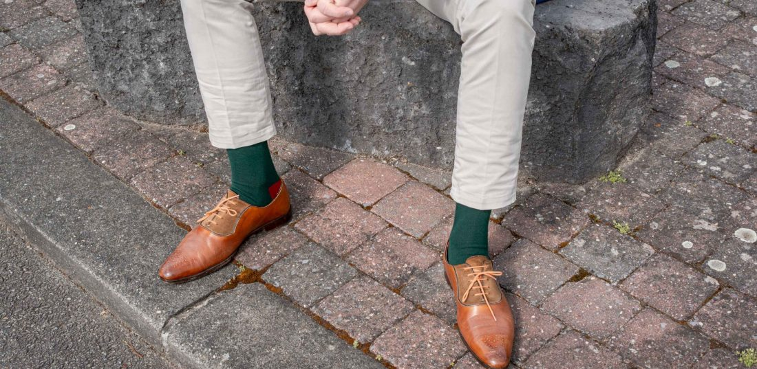 Chaussettes colorées pour homme